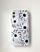 ☆Kate Spade iPhone 11 case デイジー花柄・BKx WH x CL☆