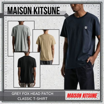 {MAISON KITSUNE} GREY FOX HEAD PATCH T-SHIRT 送料関税込