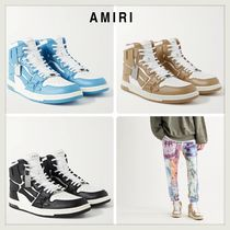 ★AMIRI★<スニーカー>Leather High-Top Sneakers