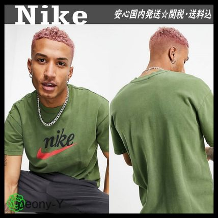 【NIKE】ナイキ Heritage Essentials washed ロゴ 半袖 Tシャツ