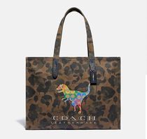Coach ◆ 986 Tote 42 with rainbow signature rexy