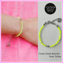 【VINTAGE HOLLYWOOD】Candy Beads Bracelet_Neon Yellow〜21SS