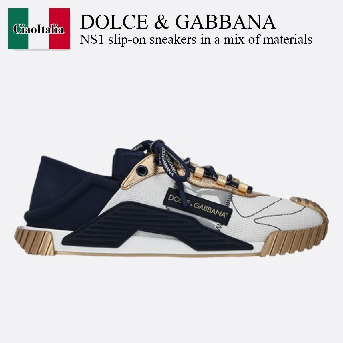 Dolce & Gabbana NS1 slip-on sneakers in a mix of materials (Dolce & Gabbana/スニーカー) NS1 SLIP-ON SNEAKERS IN A MIX OF MATERIA  CS1769 AO229  CS1769 AO229 8B96