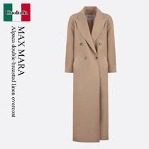 Max Mara Alpaca double-breasted linen overcoat