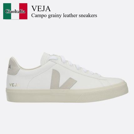Veja Campo grainy leather sneakers
