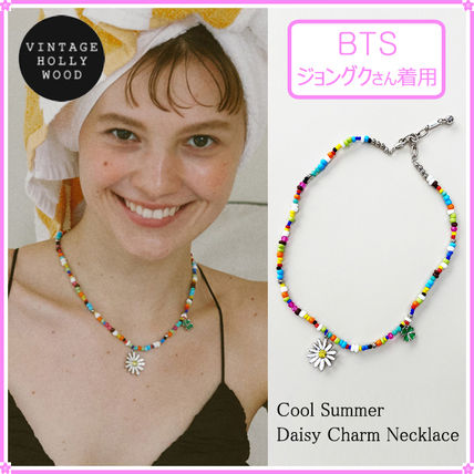 【VINTAGE HOLLYWOOD】Cool Summer Daisy Charm Necklace~2021SS