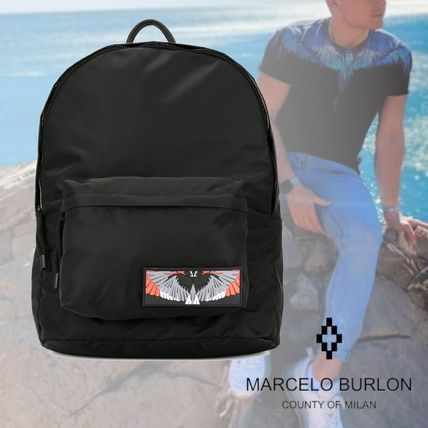 <MARCELO BURLON COUNTY OF MILAN>WINGSバックパック ナイロン
