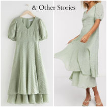 【& Other stories】Puff Sleeve Double Layer ドレス (2色)