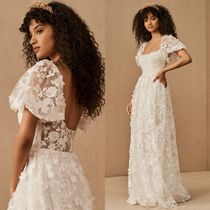 ★BHLDN★Willowby by Watters Lilia Gown パフスリーブドレス