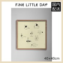 ★Fine Little Day★ YOGA POSTER・40×40㎝★ 北欧ポスター