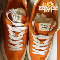 HERMES 21AW Sneakers Course Orange technical twillスニーカー
