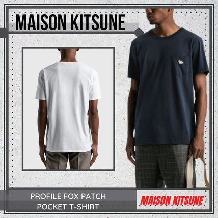 {MAISON KITSUNE} PROFILE FOX PATCH POCKET T-SHIRT 送料関税込