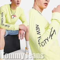 【Tommy Jeans】フラッグ ボックスアーム ロゴロング トップ