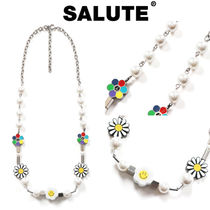 SALUTE(サルーテ) ネックレス・ペンダント ★人氣★SALUTE★FLOWER ANARCHY PEARL CHARMS NECKLACE