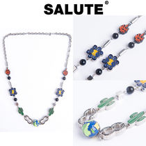 SALUTE(サルーテ) ネックレス・ペンダント ★人氣★SALUTE★3D EARTH COLOR CACTUS MULTI CHARMS NECKLACE