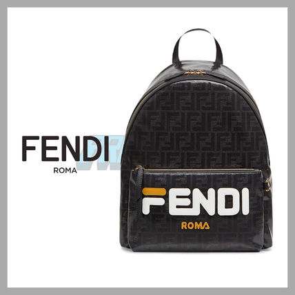 Fendi × Fila Mania Backpack FF Black バックパック ブラック
