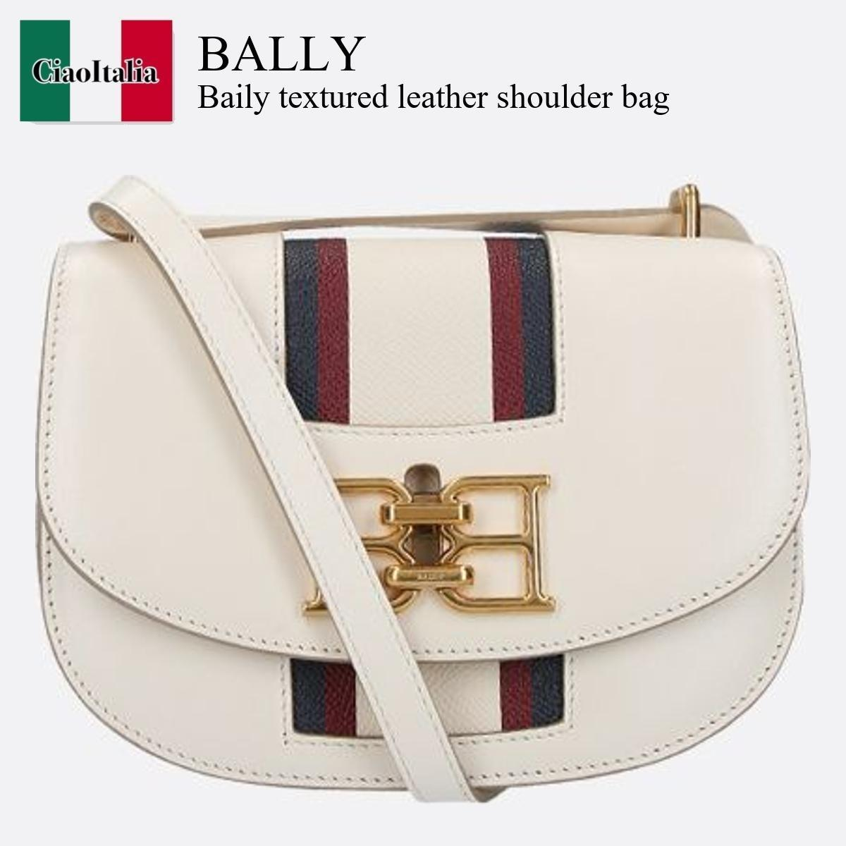 Bally Baily textured leather shoulder bag (BALLY/ショルダーバッグ・ポシェット) BAILY TEXTURED LEATHER SHOULDER BAG  BAILYTSP  BAILYTSP  BAILYTSP623686603015BONE15