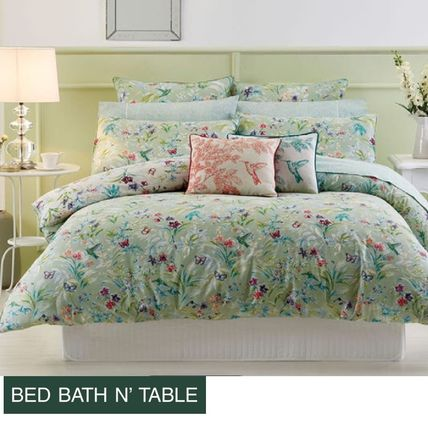 Bed Bath N Table Botanica Quilt Cover+2X 枕カバーのセット