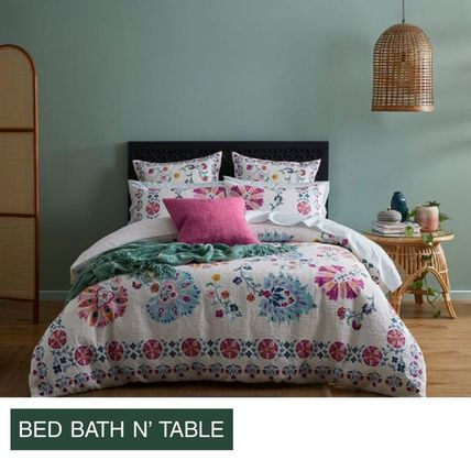 Bed Bath N Table Clementine Quilt Cover+2X 枕カバーのセット