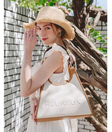★HEUREUX BY STELLA★Voyage BCI cotton Tote bag Ivory