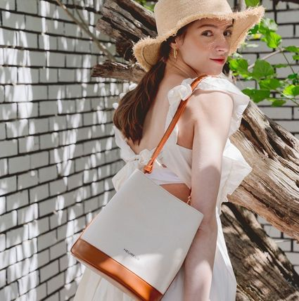 ★HEUREUX BY STELLA★Toile BCI cotton Bucket Bag IVORY