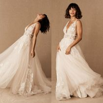 ★BHLDN★Willowby by Watters Hearst Gown Vネックドレス
