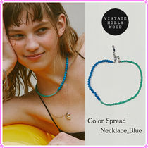 【VINTAGE HOLLYWOOD】Color Spread Necklace_Blue〜ネックレス