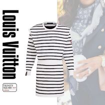 直営店 ルイヴィトン Sailor Stripe Cotton-Blend Knit Dress