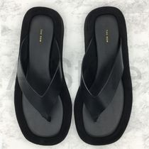 ● The Row Ginza Leather Thong Sandals Black ●スウェード●