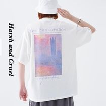 Monet Oil Painting Sunset Tee★Backデザインがアクセントに★