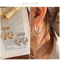 【just LoveR.】Amant Chubby Earrings (Small + Large)