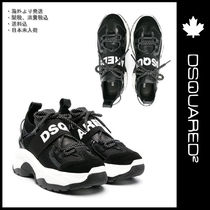 KID★『Dsquared2』★Logo Band Sneakers-Teenager Black