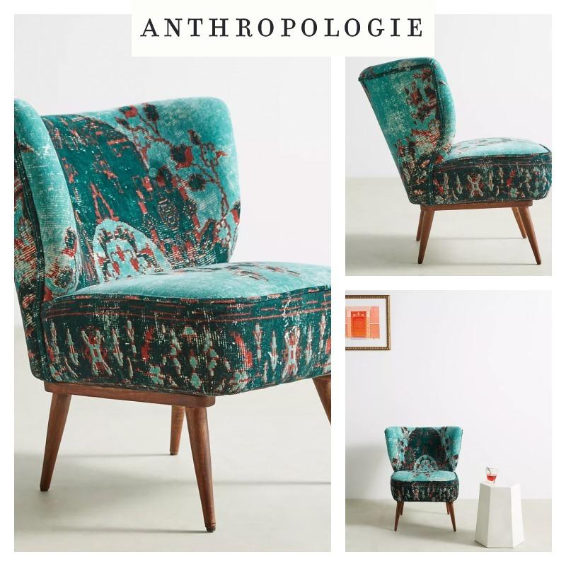 【Anthropologie】チェア Dhurrie Petite Accent Chair (Anthropologie/椅子・チェア) 69036061