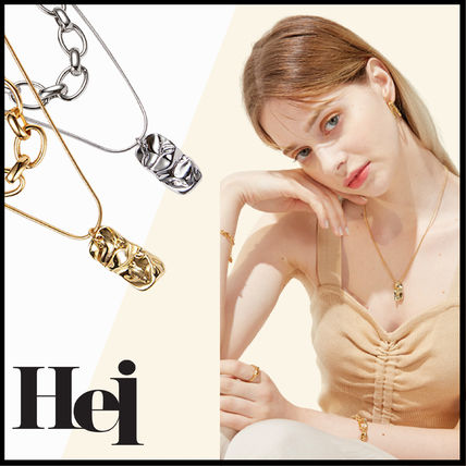 ☆送料無料☆ HEI snake & chunky chain set necklace ☆