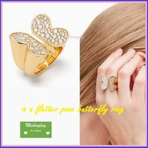 【kate spade】再販★可憐な蝶々♪in a flutter pave ring★指輪