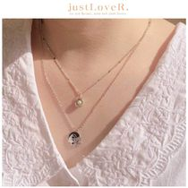 【just LoveR.】Angel In Heaven Layered Necklace Set SILVER