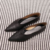 """COS(コス) バレエシューズ """"COS"""" POINTED LEATHER BALLET FLATS BLACK"""