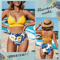 CUPSHE(カップシー) ビキニ 関税込★CUPSHE★Yellow And Blue Leaves*ビキニセット