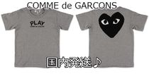 COMME des GARCONS(コムデギャルソン) キッズ用トップス 国内発送♪PLAY COMME des GARCONS kids ロゴ&バックハートT