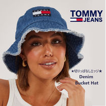 TOMMY JEANS★切りっぱなしエッジ★人気デニムバケツハット★