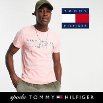 SALE【Tommy Hilfiger】半袖 ロゴ Tシャツ ピンク / 送料無料