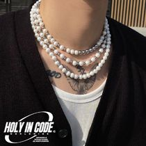 HOLY IN CODE(ホーリーインコード) ネックレス・チョーカー No.8707 HOLY IN CODE pearl & surgical 3type necklace