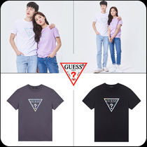[GUESS]★韓国大人気★UNISEX Tie Dying PVC Triangle T-shirt
