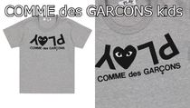 COMME des GARCONS(コムデギャルソン) キッズ用トップス 国内発送♪PLAY COMME des GARCONS kids PLAYハートロゴT