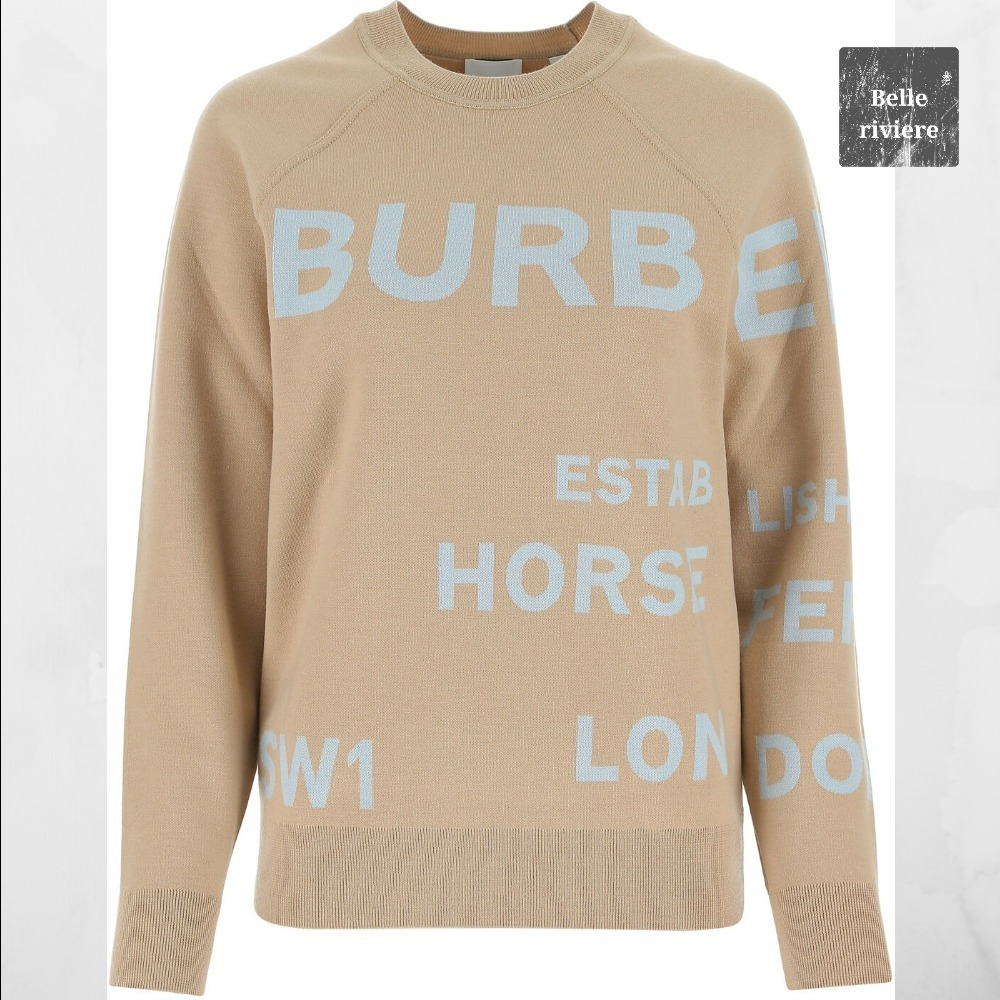 Burberry 21SS new / BEIGE STRETCH WOOL BLEND SWEATER (BURBERRY PRORSUM/トップスその他) ITEM NO. 8040224 A7405