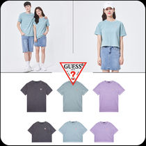 [GUESS]★Unisex Mini Triangle Pigment Dying T-Shirt