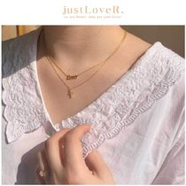 【just LoveR.】1990's Lover and Cross Necklace Set