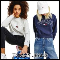 Tommy Jeans Cropped College Logo スウェットシャツ ★送関込★