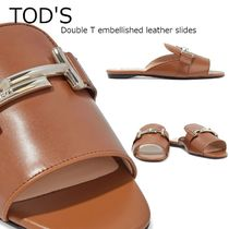 【TOD'S】Double T★フラットサンダル