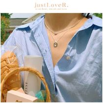 【just LoveR.】925 Silver Clyde Necklace Set